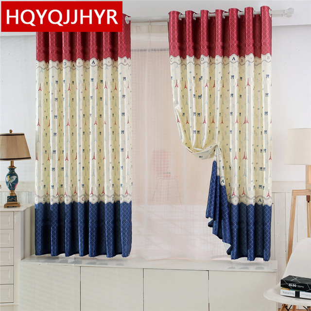 19 Models Specials Short Pastoral Semi Shade Curtains For Living Room  /Kitchen /Bedroom