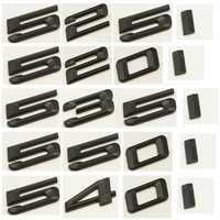 Matte Black ABS Number Letters Word Car Trunk Badge Emblem Emblems for BMW 5 Series 520i 523i 525i 528i 530i 535i 540i 545i 550i