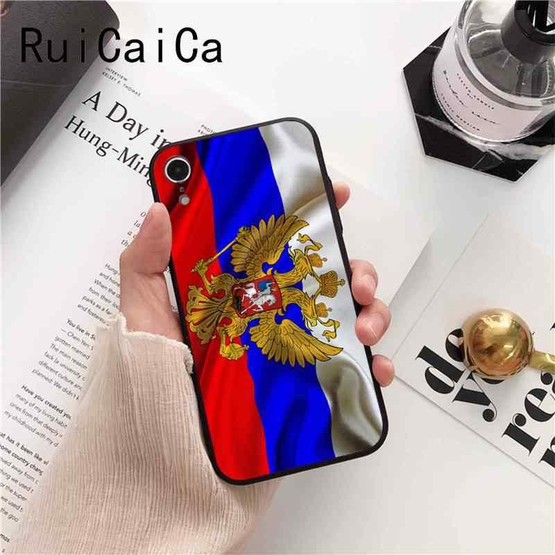 Ruicaica รัสเซียธงสัญลักษณ์แห่งชาติใหม่มาถึงสีดำสำหรับ iPhone 8 7 6 6 S 6 Plus X XS MAX 5 5 S SE XR ฝาครอบ Fundas