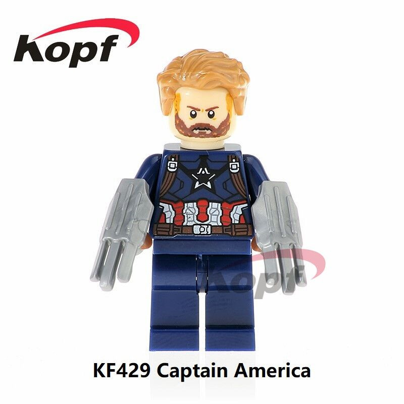 Single Sale Super Heroes Captain America Spiderman Vision Iron Man Bricks Collection Building Blocks Children Gift Toys KF429 овальный купить ковры ковер super vision 5412 bone овал 3на 5 метров