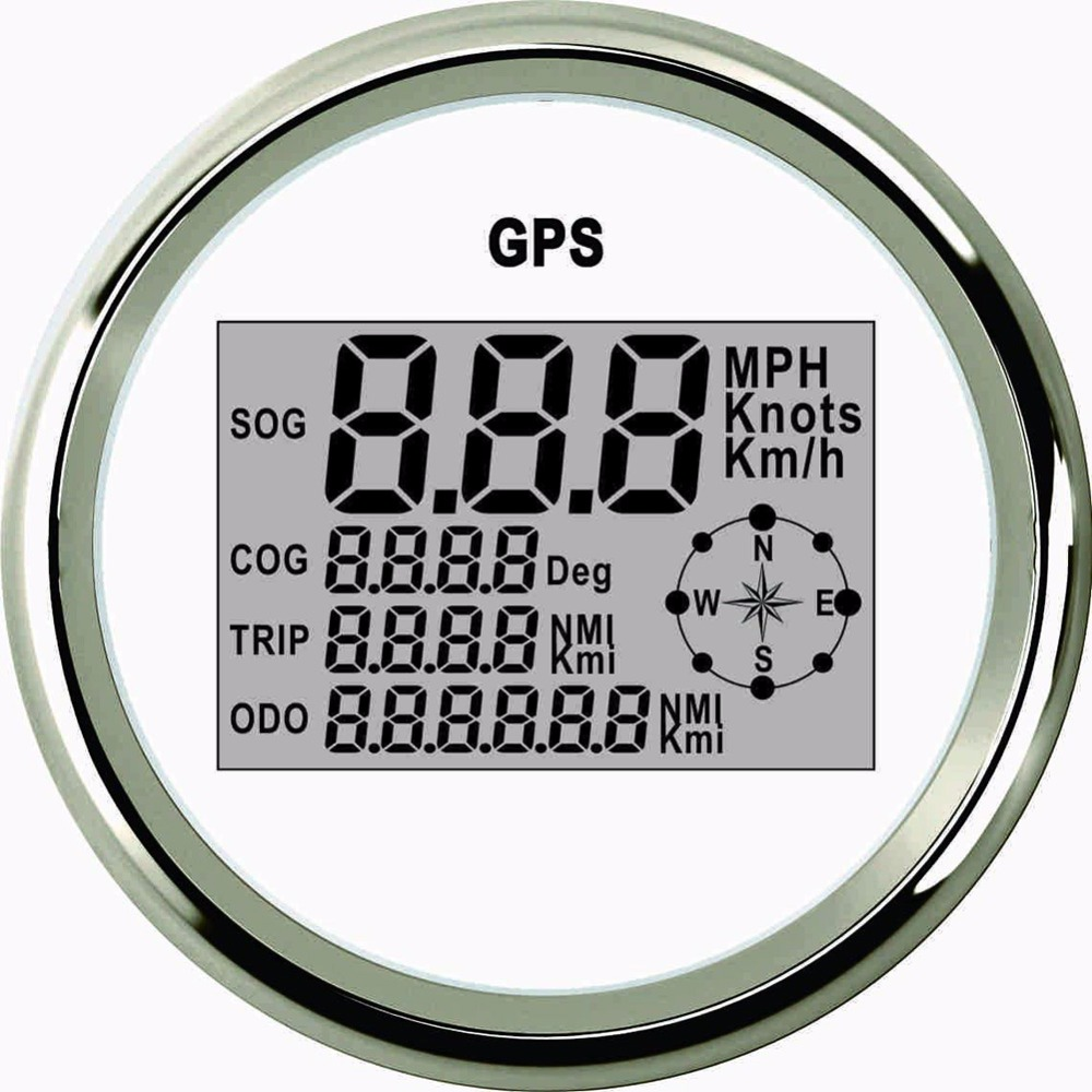 1 Pc Universal Digital GPS Speedometer Gauge 85mm GPS Meter Indicator with 0~999 MPH Knots Km/h Adjustable LCD Display Speed 85mm car gps speedometer truck boat digital lcd speed gauge knots compass with gps antenna