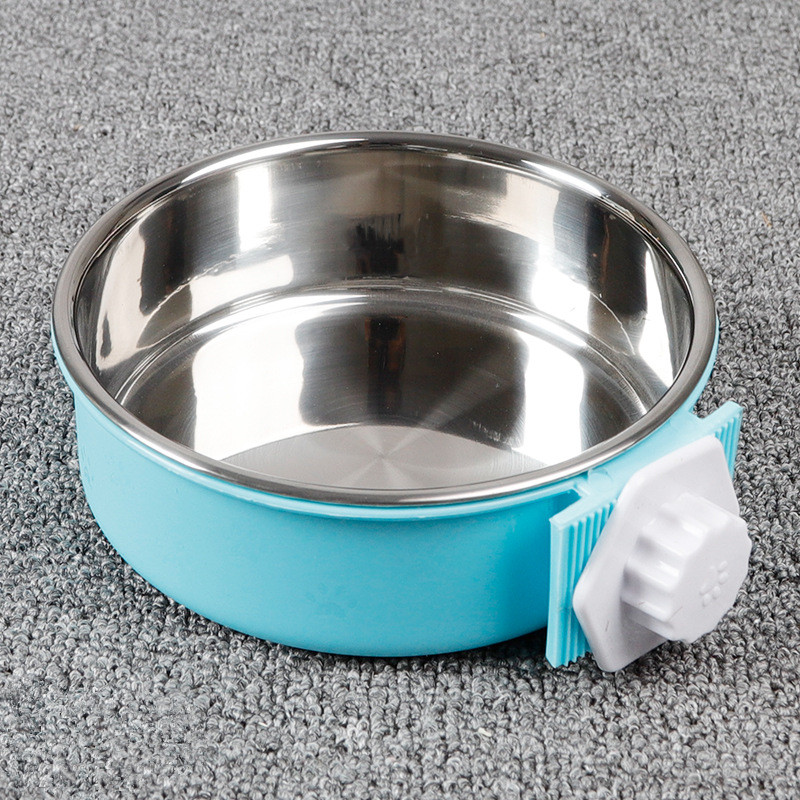 Crate Dog Bowl, Removable Stainless Steel Coop Cup Hanging Pet Cage Bowl Large Water Food Feeder for Dogs Cats Rabbits MayT3 (3)
