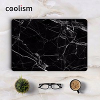 Black Marble Grain Skin Laptop Sticker For Apple Macbook Air Pro Retina 11 12 13 15