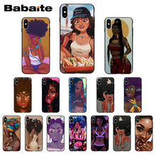 Babaite Beautiful Afro Girls Black Phone Case Cover for iPhone X Xs Xr XsMax 10 7 7plus 8 8plus 6 6s 5 5s SE 5c11 11pro 11promax babaite lil peep tpu soft silicone phone case cover for iphone 8 7 6 6s plus x xs xr xsmax 5 5s se 5c11 11pro 11promax