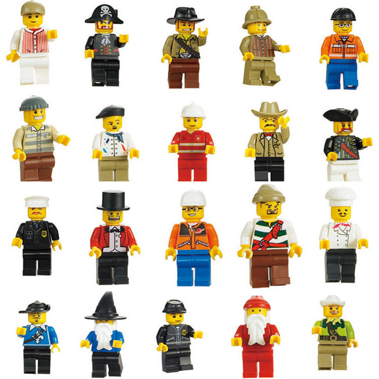 20 Pcs/Lot City Character Action Figure Building Blocks Sets Bricks Model Kids Marvel Toys Compatible Legoe kazi 608pcs pirates armada flagship building blocks brinquedos caribbean warship sets the black pearl compatible with bricks