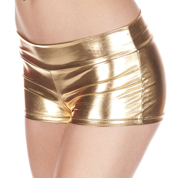 100 pcs/lot Hot sales Low Waisted Sexy Lycra Metallic Rave Booty Dance Shorts various colors 10 colors