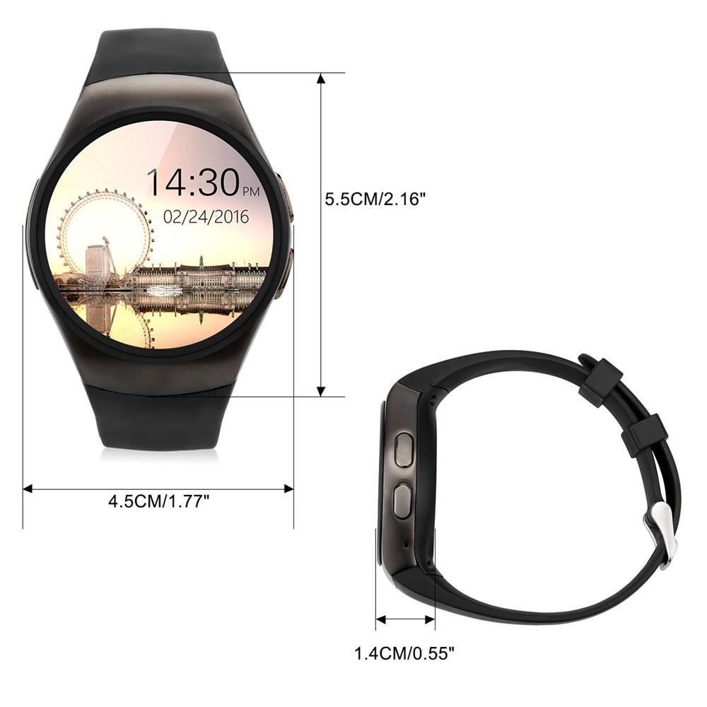 2016 New Product KW18 Smart Watch Android IOS Digital watch Bluetooth Reloj Inteligente SIM Round Heart Rate Monitor Watch Clock11