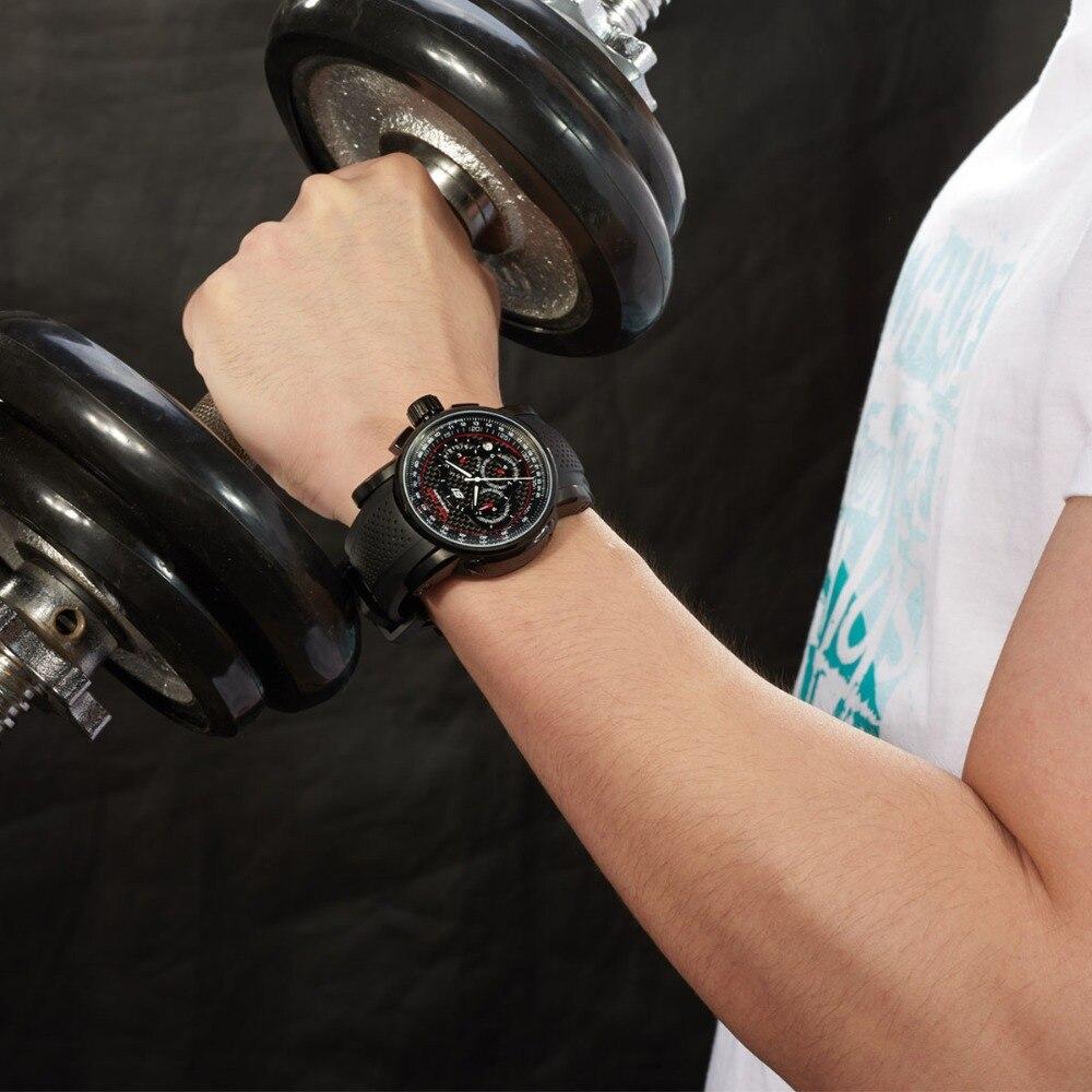 Reef Tiger / RT Sport quartz horloge met chronograaf datum Zwart - Herenhorloges - Foto 3