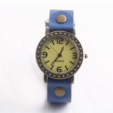 1 pc Cindiry Casal Casual Números Relógio de Quartzo com Pulseira de Couro Azul Relógios de Pulso Masculino Relógio Analógico Simples Mulheres Charme Relógio Do Esporte