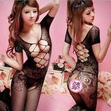 2016 SM Exotic Apparel Women Black Fishnet Body Stocking Sexy Lingerie Clothing font b Sex b