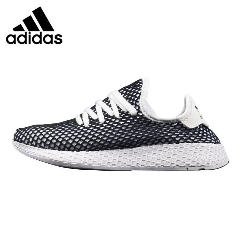 Adidas Deerupt Runner Men Running Shoes, Black /White, Shock Absorbent Breathable Wear-resistant Lightweight B41768 CQ2625 adidas deerupt runner men s and women s running shoes grey red shock absorbing breathable lightweight b28076 cq2624