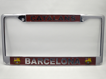 2017 hot zinc alloy car license plate frame for American plate club logo for Barcelona Automobile general license plate frame фото