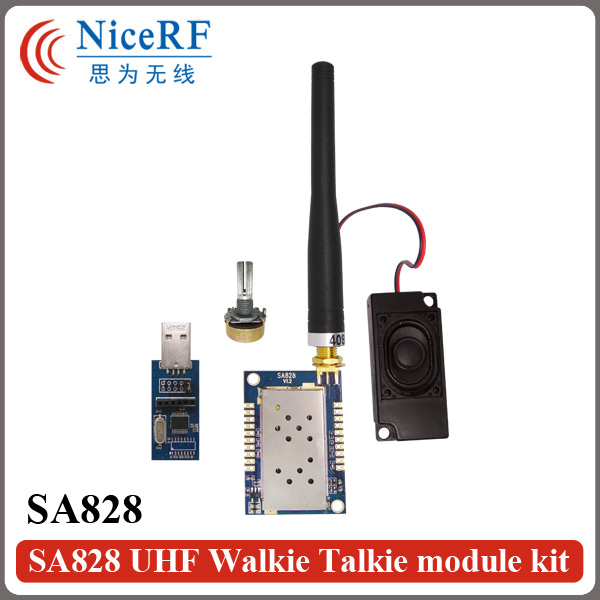 2sets 1W 400MHz bis 480MHz uhf Walkie-Talkie-Sprachmodul
