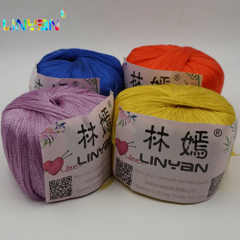 Silk Thread For Weaving 4 Pieces / Lot Thread To Knit Needle Knitting Yarn For Knitting Linha De Croche Natural Silk Wool T50