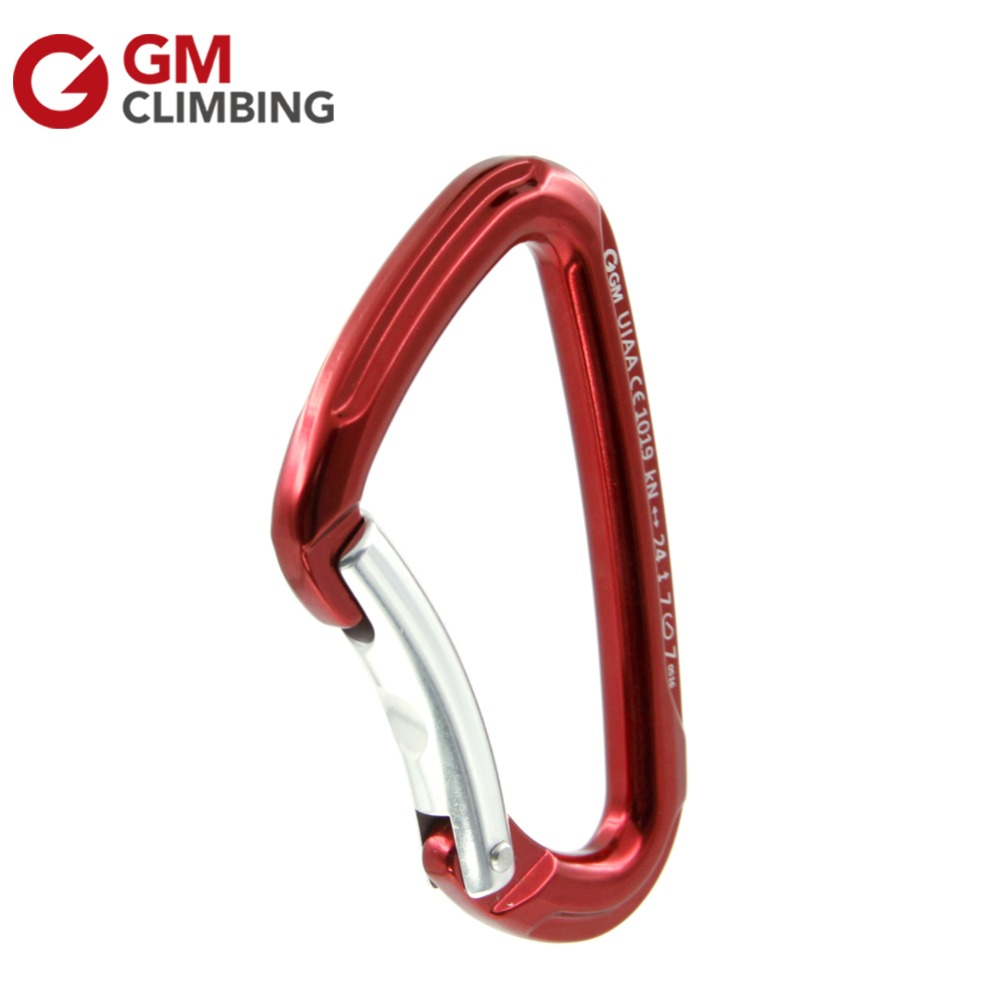 10 x 24KN/5400lbs Aluminum Bent / Wire Gate Climbing Carabiner Lot Outdoor Rock Climbing Gear Buckle By UIAA / CE