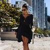 Long Sleeved Pareo Crochet Beach Cover Up 11