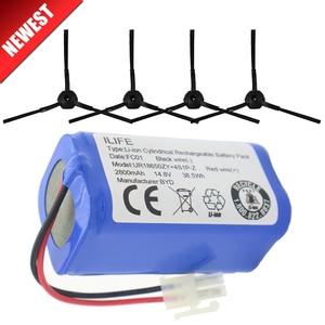 Image 1 - ILIFE Batteria 14.8V 2800mAh 1 * batteria + 4 * pennello robotic vacuum cleaner accessori di ricambio per ilife v7s A6 V7s pro ilife v7s più