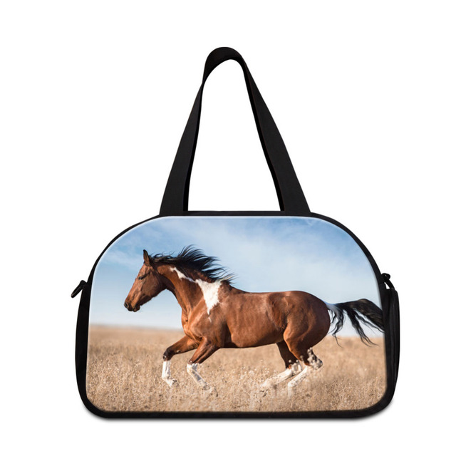 6d0a2806837d US $49.99 |Horse Print Travel Shoulder Handbags Large Gym Bag Men Luggage  Travel Duffle Bags Weekend Bag Multifunctional Outdoor Trip Bag-in Travel  ...
