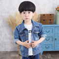 Spring Jacket Kids Denim Jacket Children Outerwear Jean Jacket Casual Kids Clothes Worn-out Baby Boys Denim Jackets Boys Coat