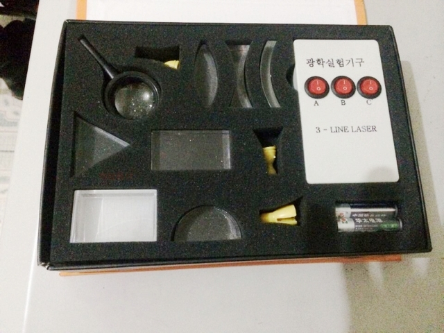 Concave/bolle prisma lens set Optische test apparatuur 3 lijn laser set educatief apparatuur speelgoed