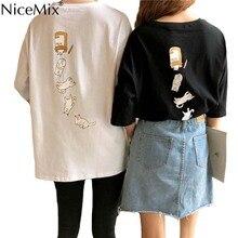 NiceMix Harajuku Kawaii Women T Shirt Cute Style Nice Cat Funny Female Shirts Short Sleeve Tops Tumblr Fashion Graphic Couples C