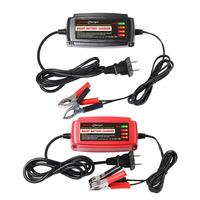 12V 5A Lead Acid Battery Charger Multiple Protective Systems Auto Supplies US Plug 4 Stage Switching Mode LED Indicator Light