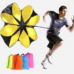 Resistência esportes treinamento pára-quedas poliéster aumentar velocidade exercício pára-quedas para correr