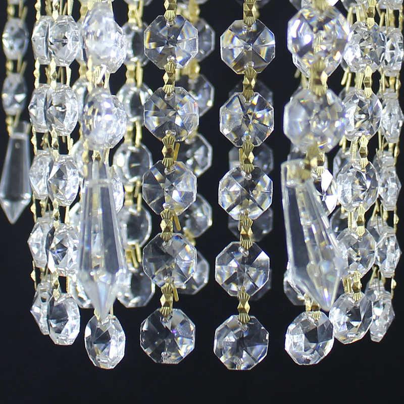 Современные позолоченные хрустальные потолочные светильники E27 Светодиодный винтажный Королевский потолочный светильник для гостиной спальни отеля
