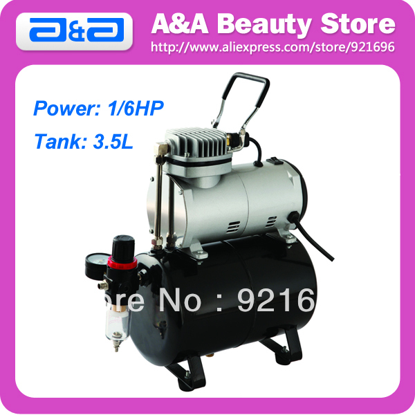 Portable Single Cylinder Piston Airbrush Air Compressor 1/6HP with 3.5 Liter Tank portable air compressor 8l air pool cylinder noisy less light tool 0 7mpa pressure economic speciality of piston filling machine