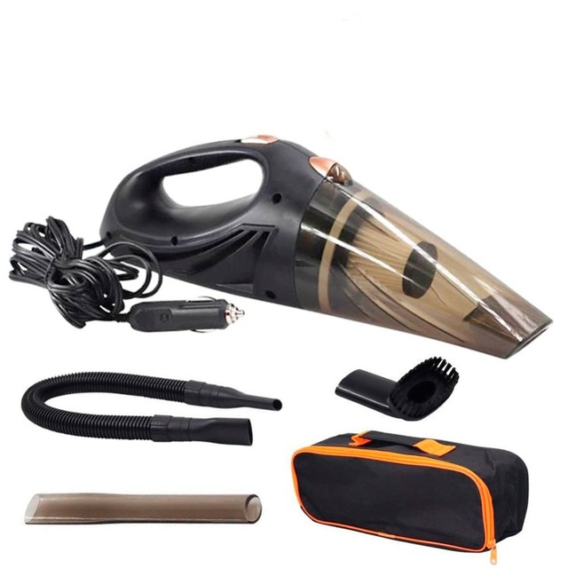 4800pa Strong Power Car Vacuum Cleaner DC 12 Volt 120W with Handbag 4.8KPA Cyclonic Wet/Dry Auto Portable Vacuums Cleaner 2 HEPA