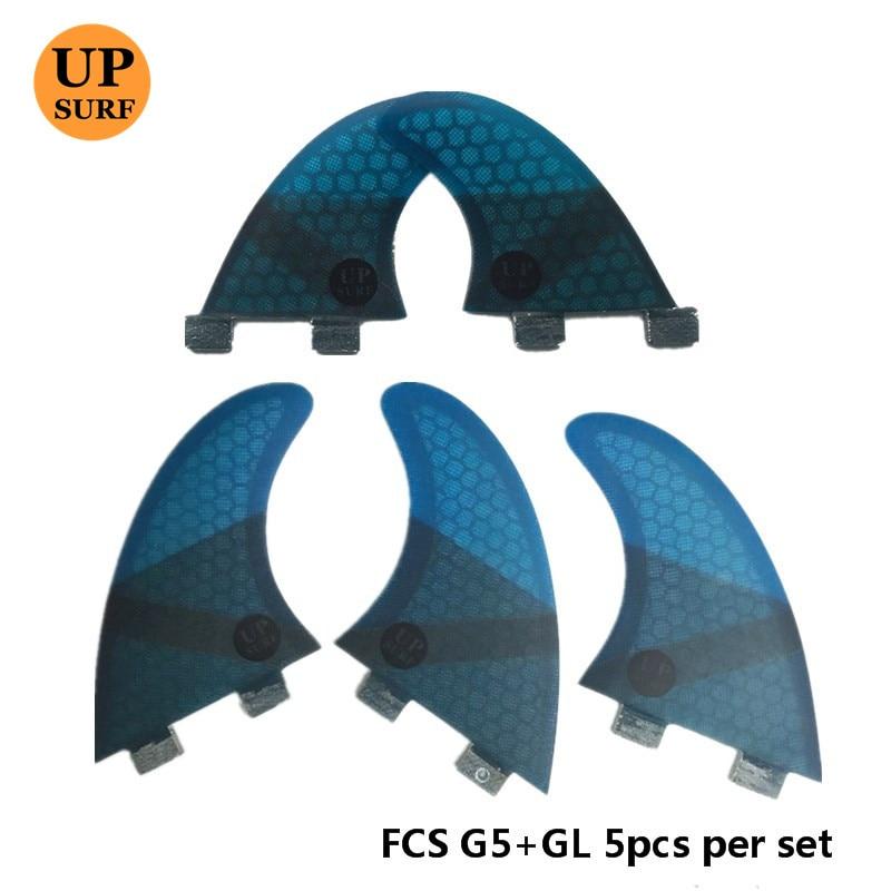 4Pcs / 5pcs FCS Fins G5 GL Fin Honeycomb Fiberglass Fins G5 + GL - Су спорт түрлері - фото 5