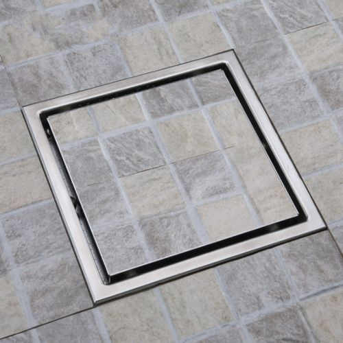 Square Shower Floor Drain With Tile Insert Grate Sus304 Stainless