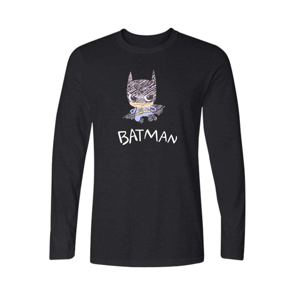 Black t shirt xl - Cartoon Batman 4xl Black T Shirt Men Long Sleeve Plus Size With Navy Blue Men Tshirt Brand Famous In Tee Shirt Boys 3xl