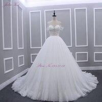 ג 'וליה Kui Robe De Mariage סטרפלס קו נסיכת חתונת השמלה סטרפלס את כתף חזה מקיר לקיר שמלת כלה