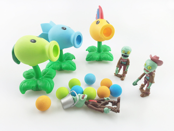 HOT PVZ Plants vs Zombies Peashooter PVC Action Figure Model Toy Gifts Toys For Children High Quality Brinquedos, In OPP Bag 2