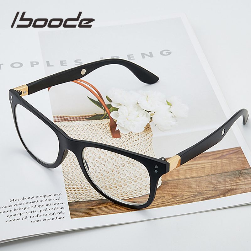 Iboode 1.6/2.5 Times Magnifying Eyewear Glass Women Men Antifatigue Reading Glasses Big Vision 250/300 Degree Magnifier Glasses