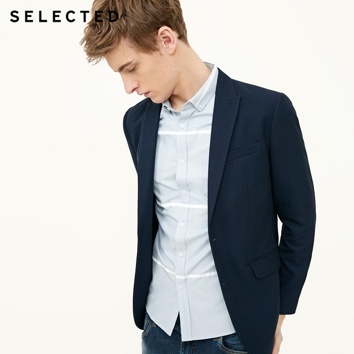 選択閉鎖襟ビジネスレジャースリムフィットスーツコートブレザー S  418108509  グループ上の メンズ服 からの ブレザー の中 1