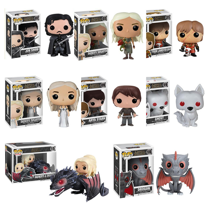 Funko Pop TV: Game Of Thrones-Daenerys-Night King-Grey Worm-Black Dragon-Jon Vinyl Action & Toy Figures Children Toys