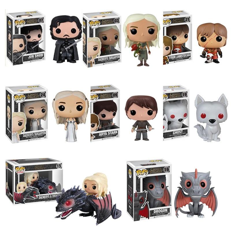 Funko pop TV: Game of Thrones Daenerys Night King Grey worm Black Dragon Jon Vinyl Action & Toy Figures Children Toys|Action & Toy Figures| |  - title=