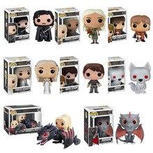 Funko pop TV: Game of Thrones Daenerys Night King gray ver Black Dragon Jon Vinyl figurines et jouets figurines enfants