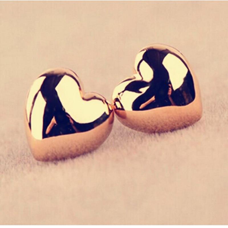 Ek358 Лидер продаж Новая мода милый сердцу простой Винтаж Глянцевая Серьги-гвоздики для Для женщин свадебные Личность ювелирные изделия оптом