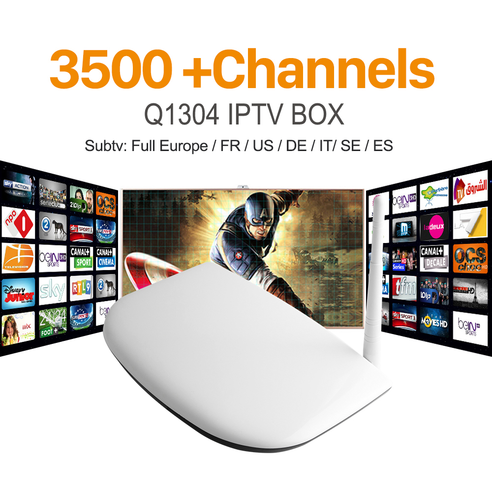 ФОТО Q1304 Android Iptv Set Top Box Media Player With Russian Europe Arabic Iptv Apk Subtv Account 3400 Sky Canal Sport IPTV Channels