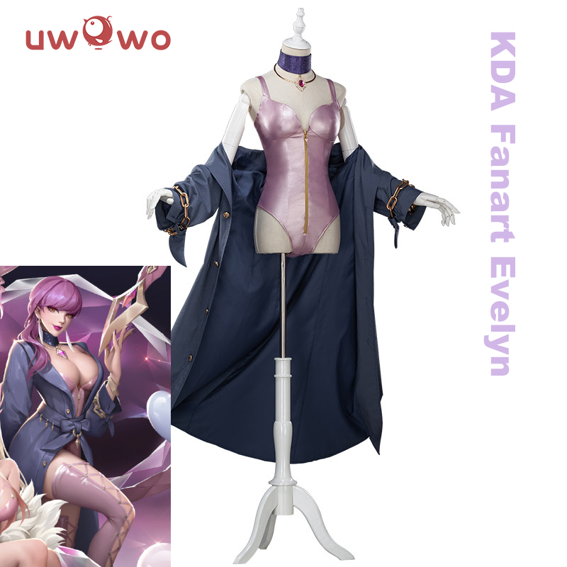 UWOWO Game LOL Evelynn Cosplay Costume K/DA  Evelynn Cosplay LOL KDA Magazine Ver Evelynn Women Halloween Costume