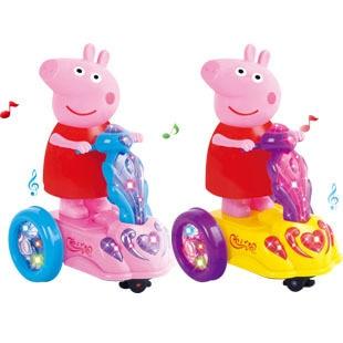 Peppa Pig música para crianças Peppa Pig para crianças dos desenhos  animados brinquedo elétrico carro elétrico