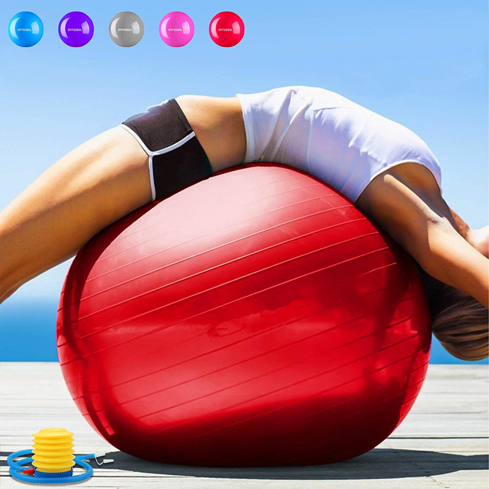 45CM Sports Yoga Balls Bola Pilates Fitness Ball Exercise Gym Balance Fitball Exercise Pilates Workout Massage Ball