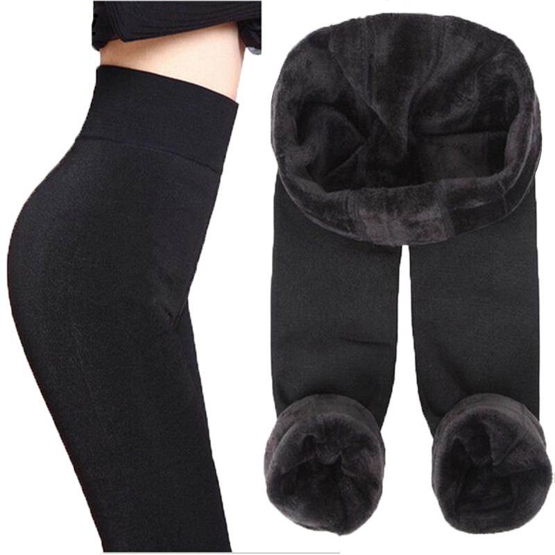 YSDNCHI Winter   Legging   Fashion Seamlessly Integrated Inverted Cashmere   Leggings   Warm Pants Plus Thick Velvet Warm Black Leggins