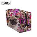 2016 Brand Large Capacity Cosmetic Bag Protable Makeup Bag Pouch for Women Cute Animal Pug Dog Print Make Up Storage Bag