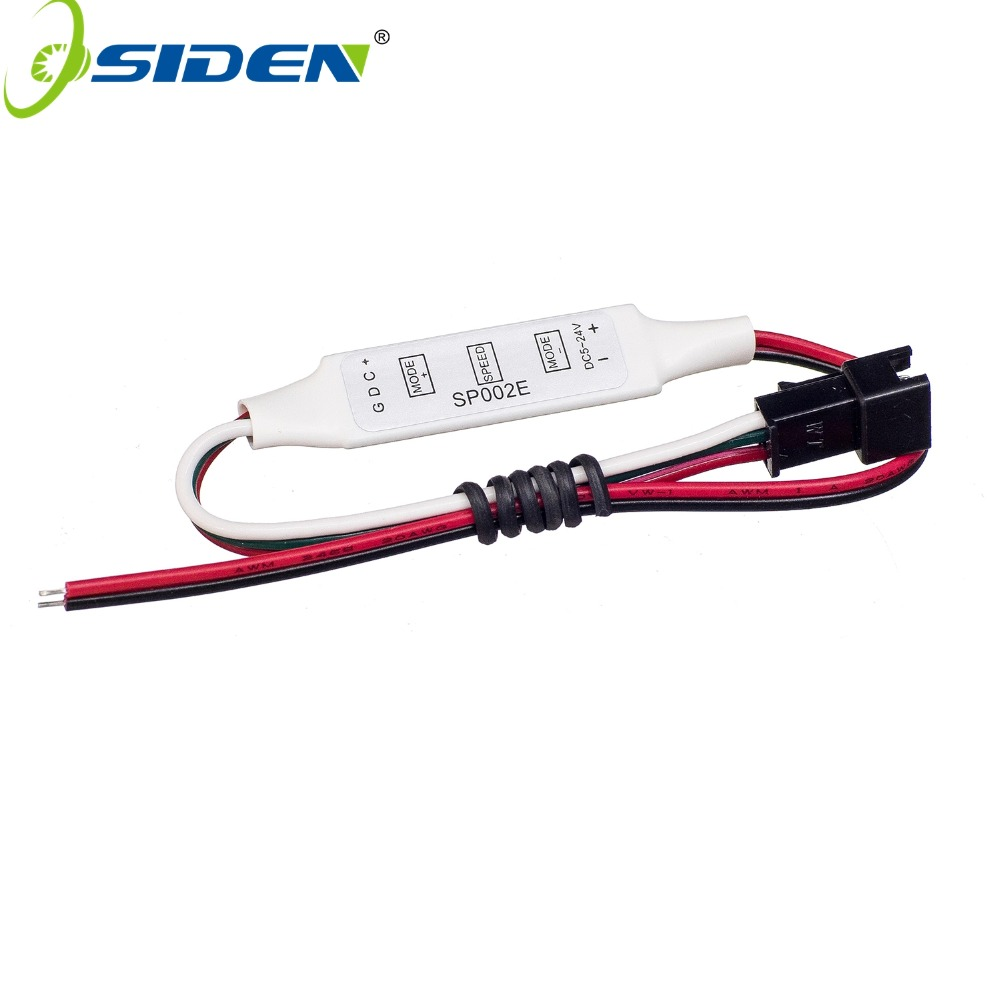 SP002E Mini 3Key RGB LED Inline Controller Connectorfor DC5V 12V 24V Pixels Dream Color WS2811 WS2812B LED Strip Light
