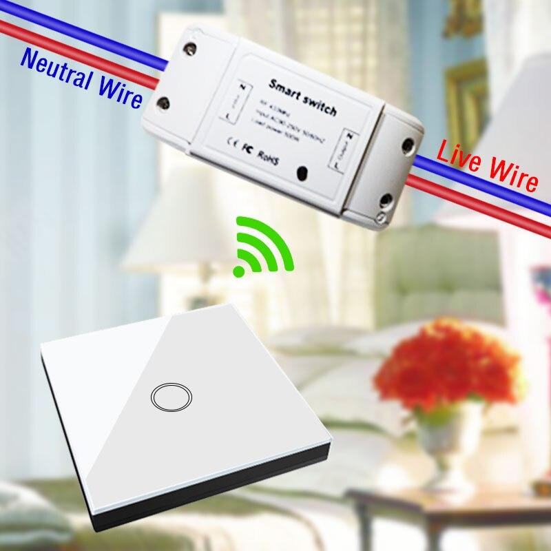 Igreli 3 pièces récepteur sans fil et trois boutons tactile télécommande bâton interrupteur pour lampe à LED AC 90-250 V & rf 433 MHZ - 3