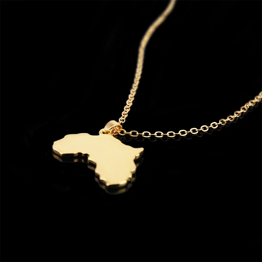 SELITE Map of Somalia Pendant Necklaces for Women Men Gold Color Country Maps Somalia Jewelry Gifts #J0077